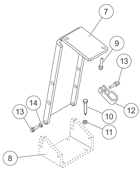 Joystick control floor mounting bracket