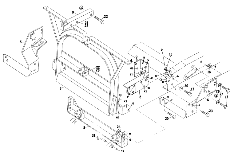 10480 Meyer Lift Frame for Jeep 17071 Custom Plow mount