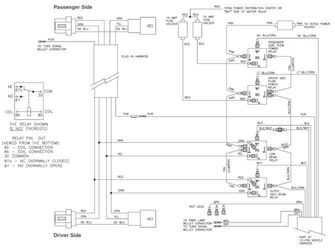curtis snow plow wiring harness schematic  2008 subaru