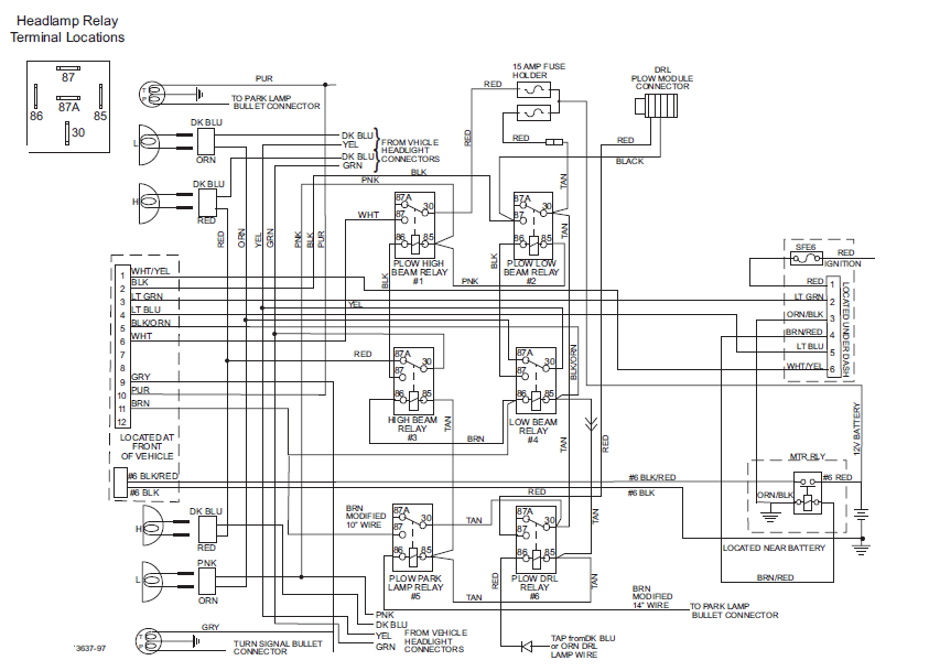 Fisher Headlight Relay Wiring. . Wiring Diagram