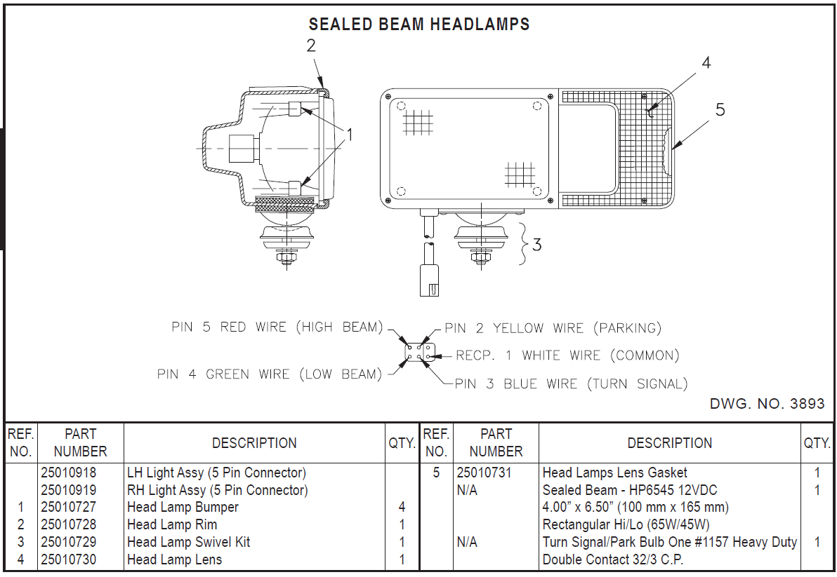 Hiniker headlamp set hiniker plow wiring diagram hiniker plow light wiring diagram at gsmportal.co
