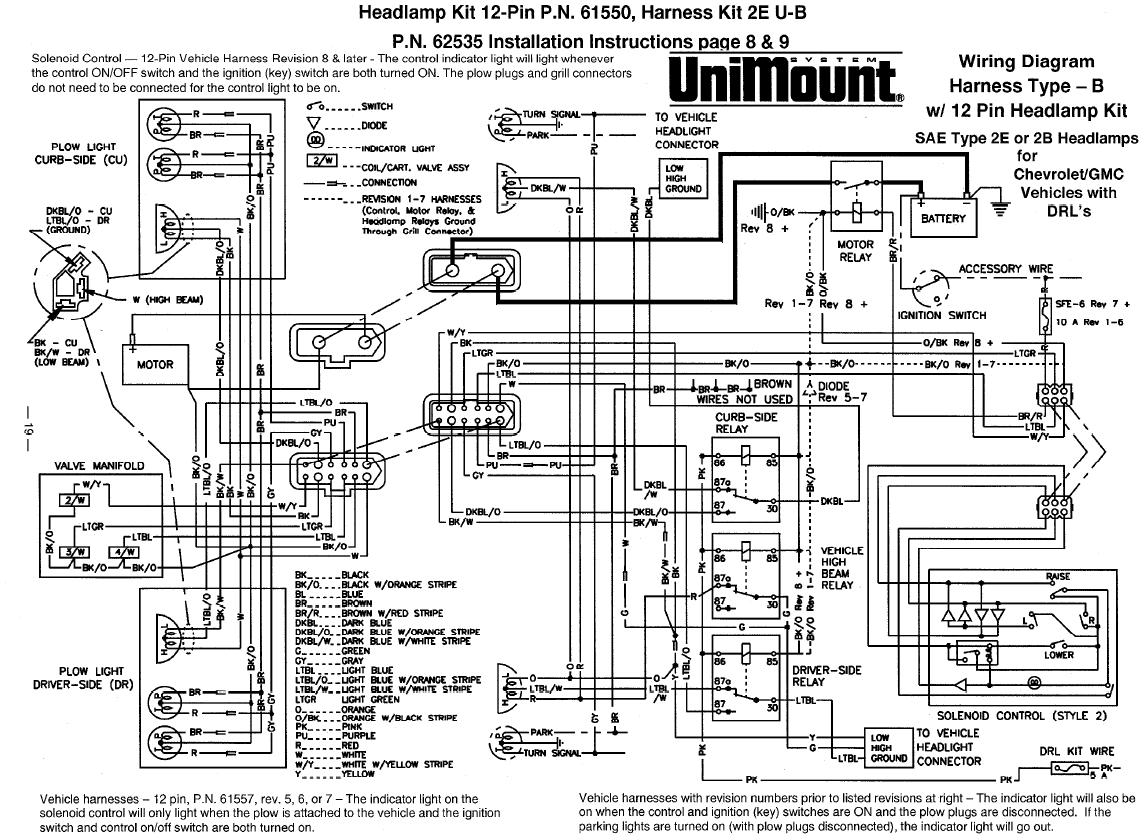 Western Ultramount Headlight Wiring Diagram Western Unimount