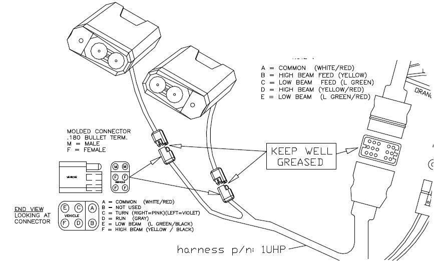 truck lite led headlight wiring diagram venn on microsoft word curtis sno pro 3000 plow light set tite healights additional information