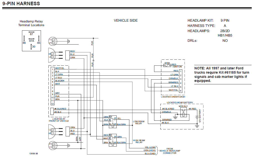 western plow wiring harness diagram kubota for 1984 chevy great installation of plows unimount 9 pin get conventional snow solenoid