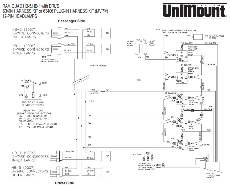 fisher plow wiring diagram dodge lead tin phase 63406 mvp western / unimount 99+ hb-5/hb-1 12 pin lights 10 control ...