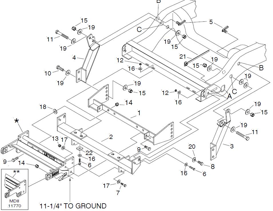used 17123 Meyer mount EZ Plus MDII plow Mount 1994-2002