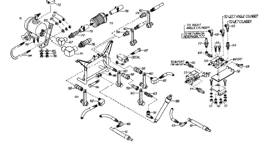 Under hood belt drive Diamond Hydraulic tank round Plow