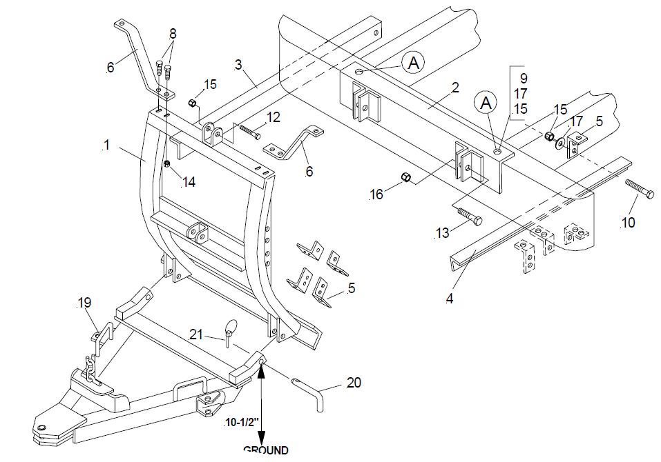 17056 Meyer UBF Universal bumper mount