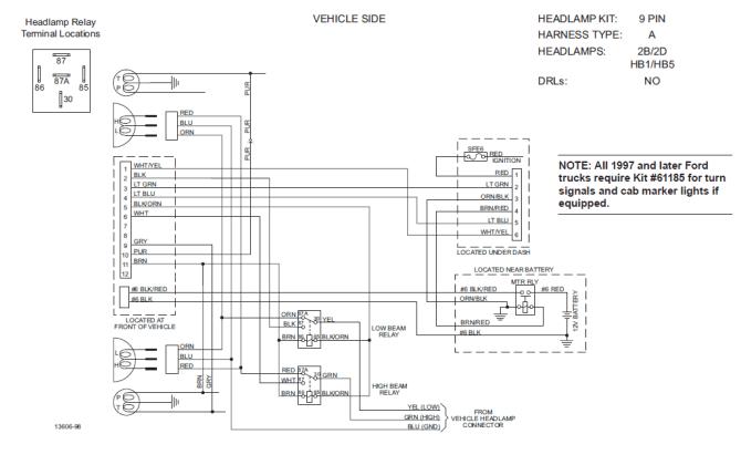 western plow unimount 9 pin wiring diagram pin microphone
