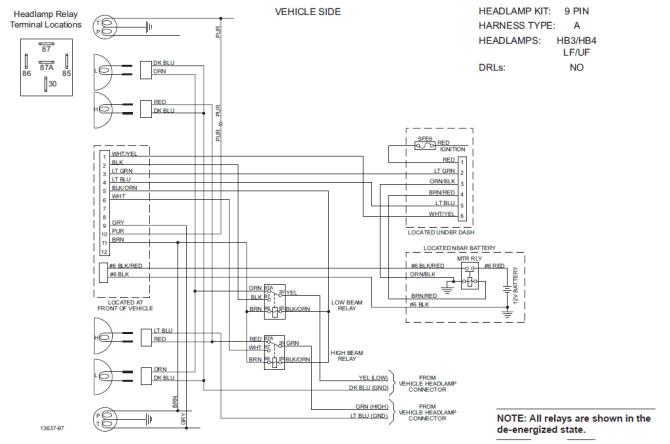 61716 western unimount 8898 chevy gmc hb3hb4 light wiring harness fisher  8267