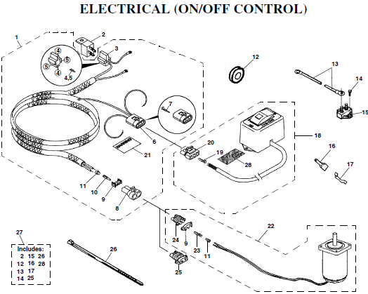 sno way plow wiring diagram 2002 international 4300 96105890 sno-way on/off harness salt spreader power