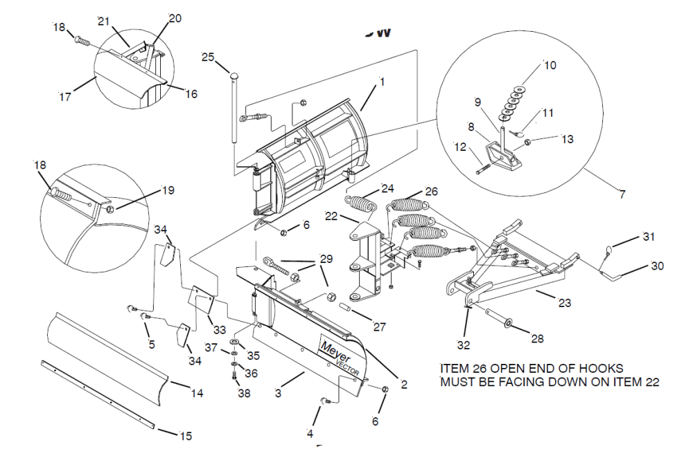 medium resolution of 8 5 meyer ez vector v plow classic mount blade side only fisher plow moldboard fisher extreme v wiring schematic building