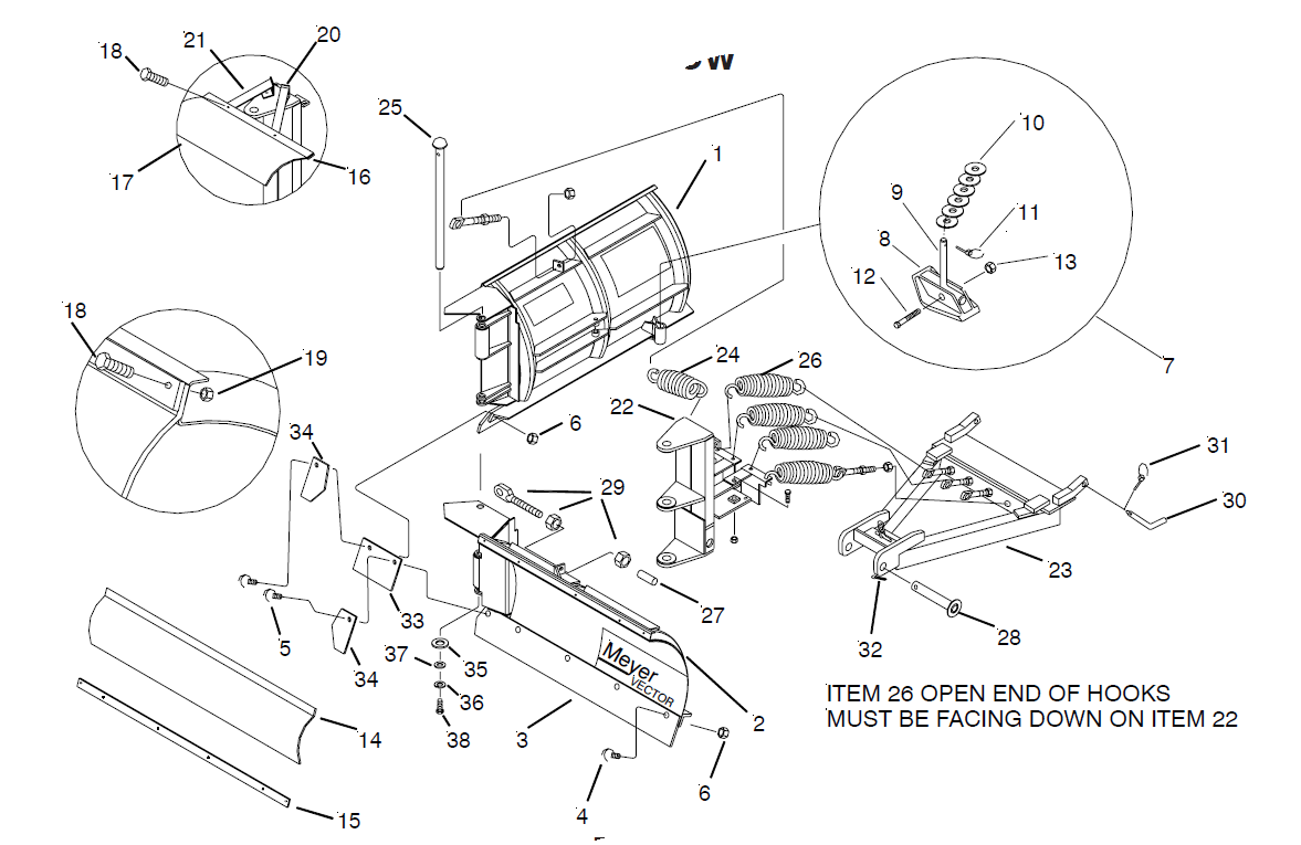 hight resolution of 8 5 meyer ez vector v plow classic mount blade side only fisher plow moldboard fisher extreme v wiring schematic