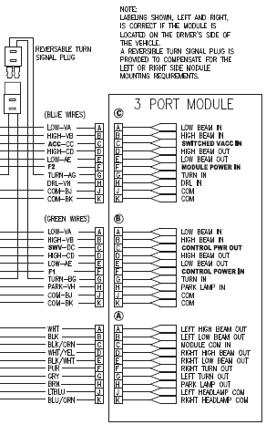 290701 Module 3 port DRL Western Fisher Blizzard Snowex Isolation module plow wiring