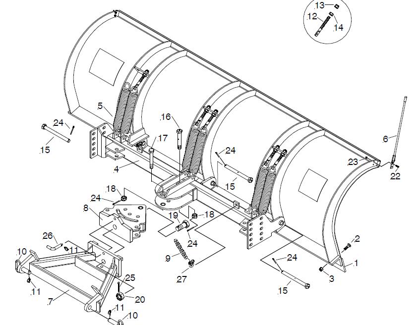 09287 New Meyer Agressor 10' Road Pro Steel Moldboard