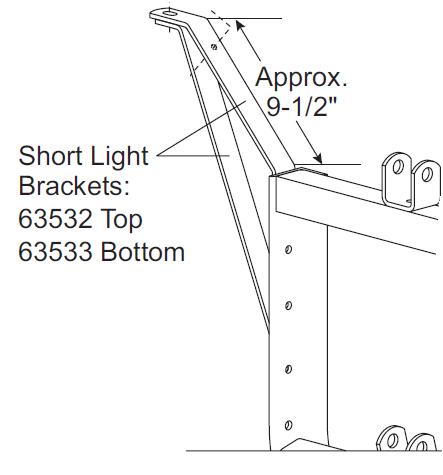 26347 / 26377 western fisher blizzard 11 pin plow side light wiring harness  3 plug