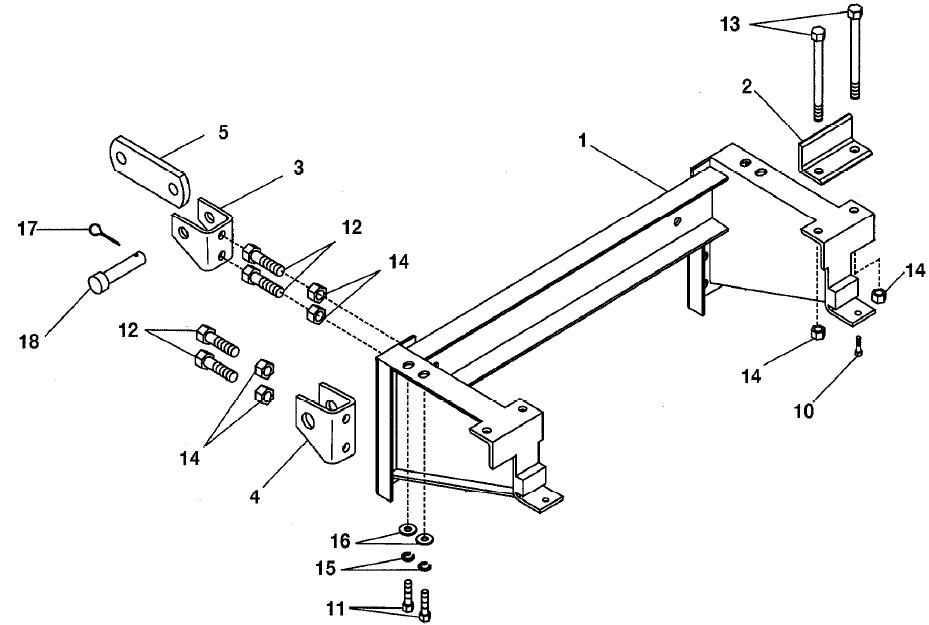 62370 95-01 Toyota Tacoma 4x4 Western Unimount plow mount