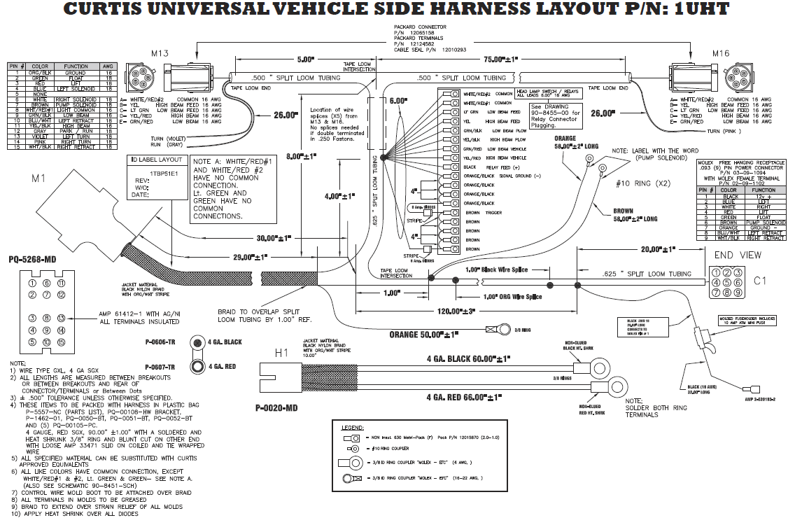curtis plow wiring harness diagram