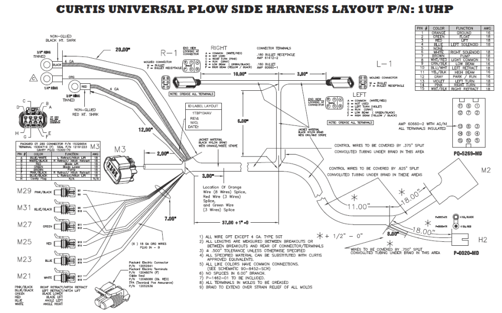 medium resolution of curtis plow side harness