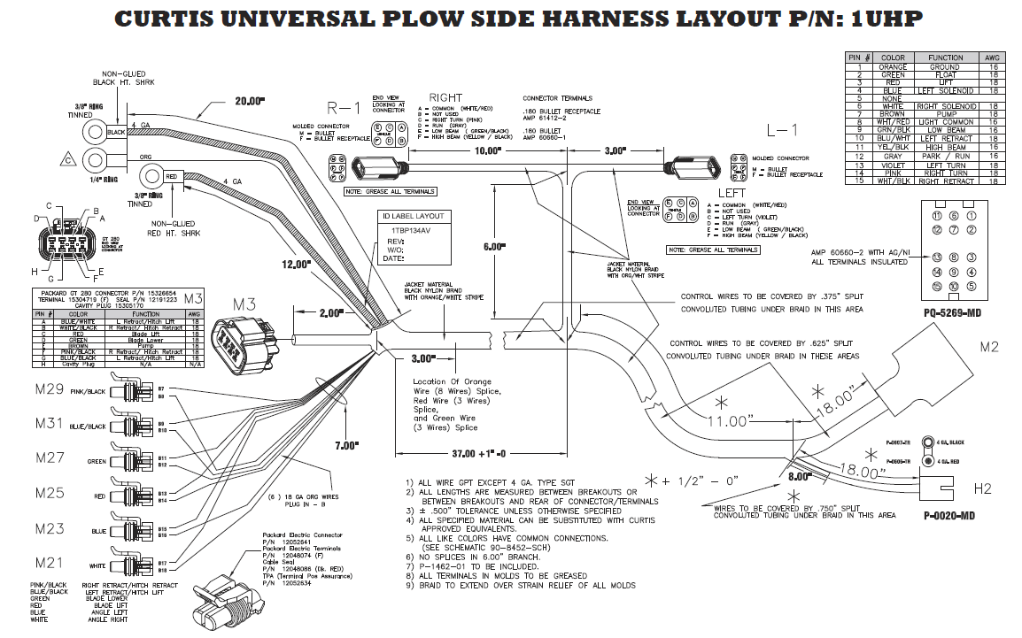 hight resolution of curtis plow side harness