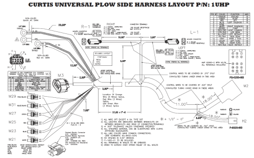 small resolution of curtis plow side harness