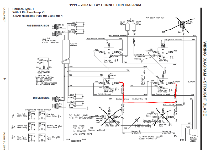 western snow plow control wiring diagram