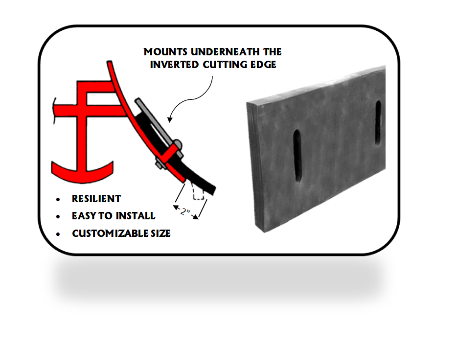 Rubber Snow Plow Cutting Edge