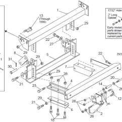 7 Blade Wiring Diagram Truck Side 2000 Harley Davidson Sportster 1200 62020 / 62021 Lower Support Brace 94-02 Dodge Western Unimount 62035 985