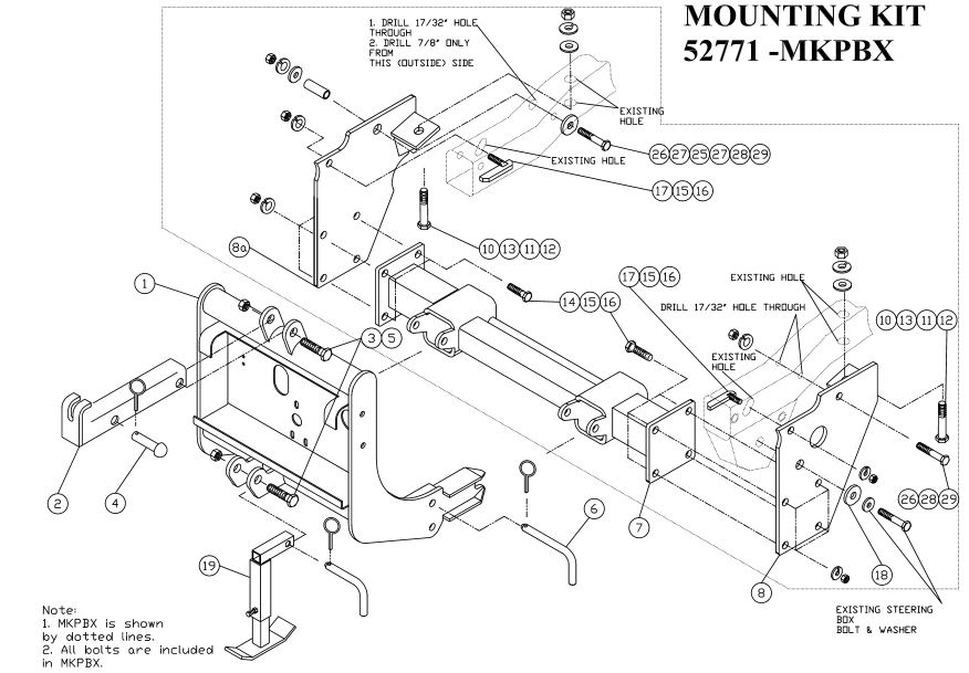 97-06 Jeep TJ Wrangler 4x4 Arctic Mount # 52771-MKPBX