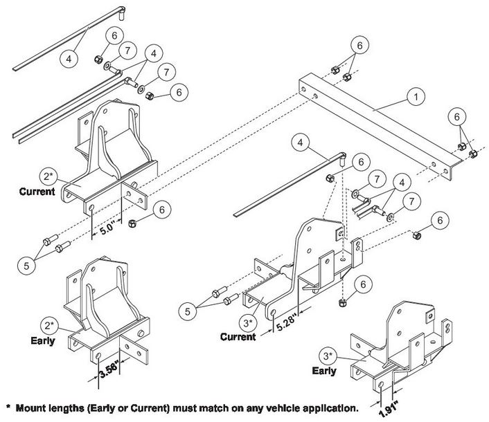 03-09 Dodge Ram 2500/3500 4x4 Western /SnowEx Mount