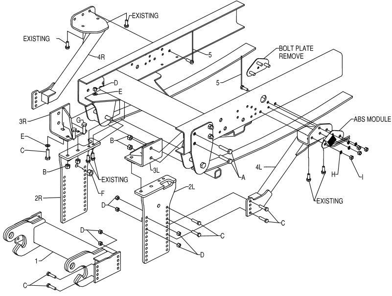 03-11 Chevy C4500 C5500 10' Undercarriage Boss Mount