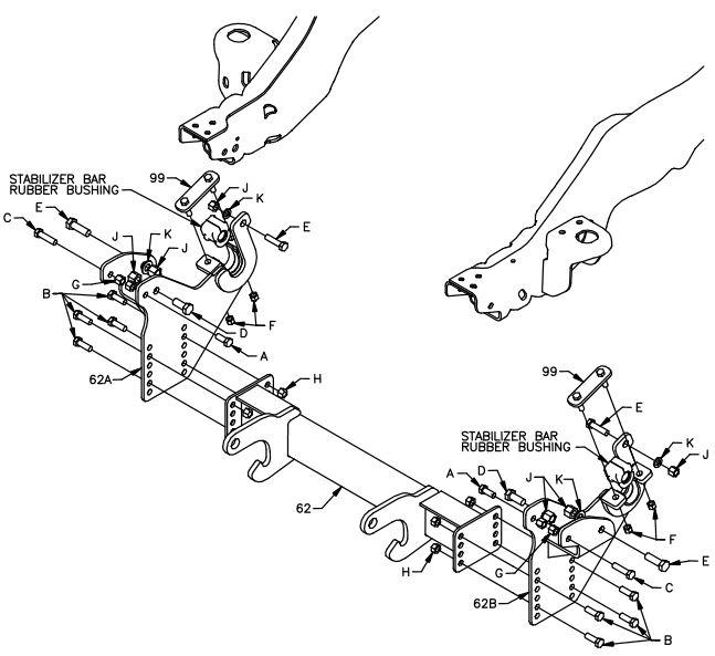 08-16 Ford F450 F550 10' Plow Boss Mount LTA09070B