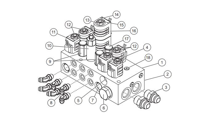 B62163 Blizzard power hitch 1 coil solenoid 12V pump parts