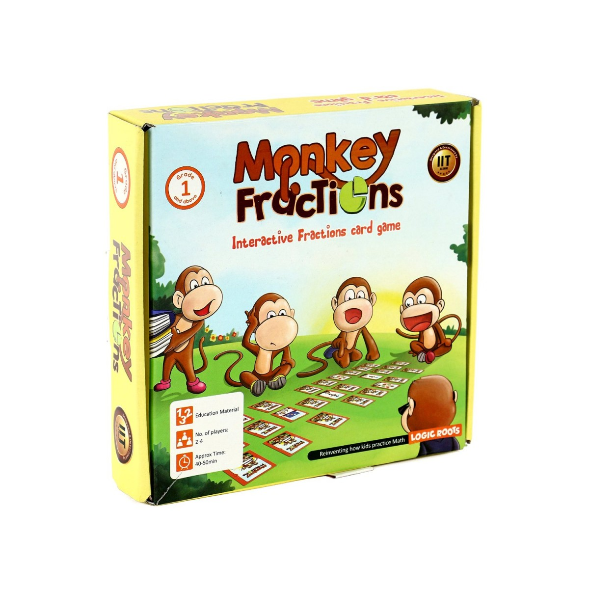 Logicroots Fractions Card Game Monkey Fractions For Kids Of Grade 1 And Above To Learn Fraction