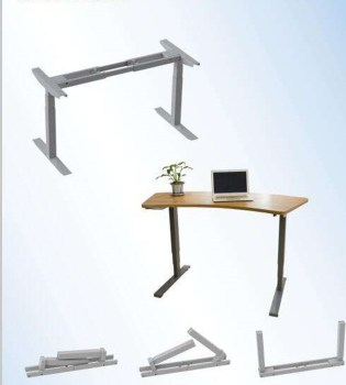 heigh-adjustable desk with top