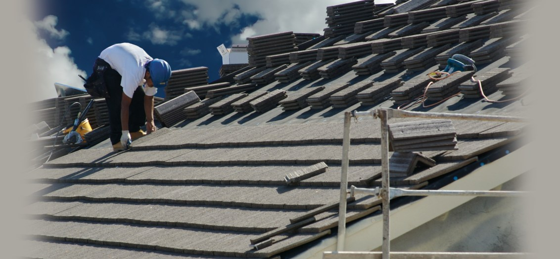 Stormspell team adding a new slate roof