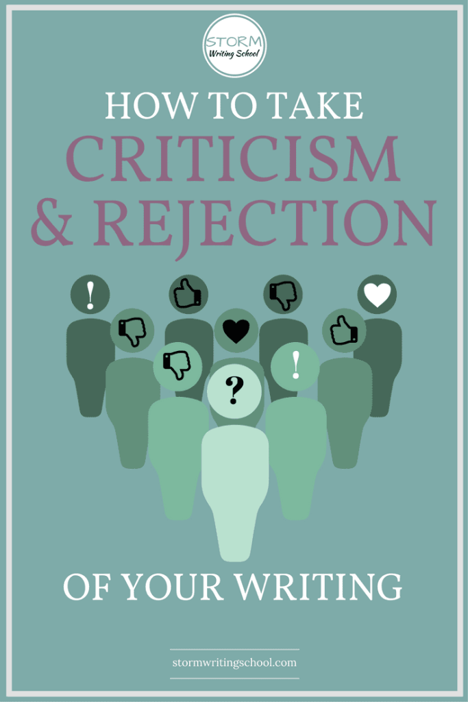 What's the best mindset for receiving criticism and rejection?