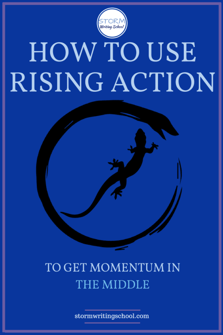 Great lesson on how to use rising action in the middle of your stories and scenes.
