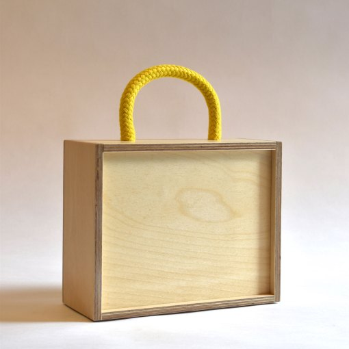 Plywood Lunch Box/yellow