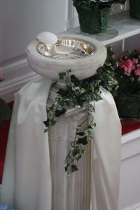 Baptismal Font at Easter