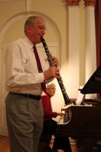 Dave Jordan on clarinet, accompanied by Carol Jordan on piano