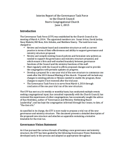 Interim Report of the Governance Task Force - Final