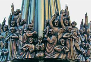 "Detail of ""Heaven Holds a Sense of Wonder"", sculpture by Famke van Wijk, in The Hague, Netherlands"