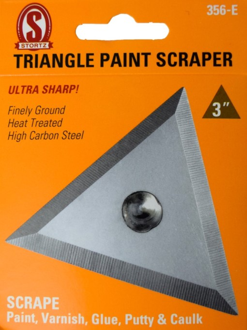 "356-e 3"" Triangle Paint Scraper"