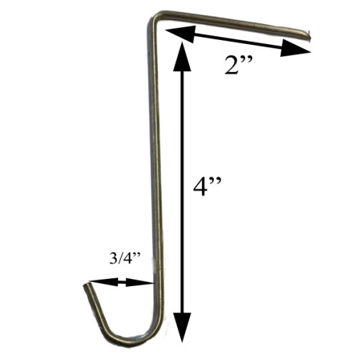Large Stainless Steel Slate Hook