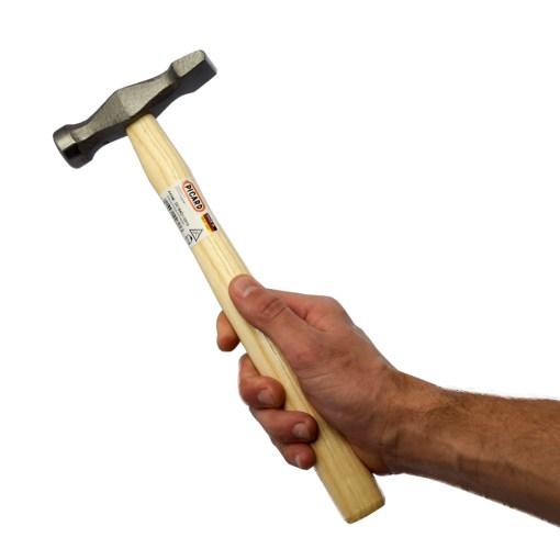 planishing hammer in use