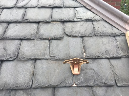 Sieger Snow Guard Installed on Slate Roof
