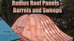 Curved Copper Standing Seam