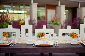 Fall Art Deco Table Setting Wide View
