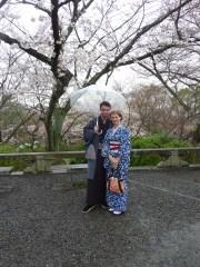 T-J and I under an umbrella